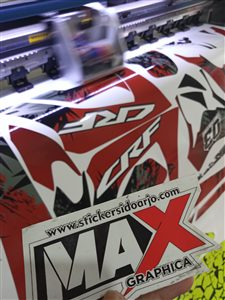 cetak sticker decal CRF maxgraphica sidoarjo